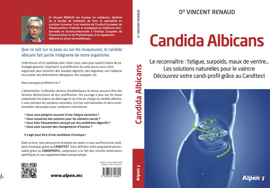 Livre Candida Albicans par le Dr Vincent Renaud